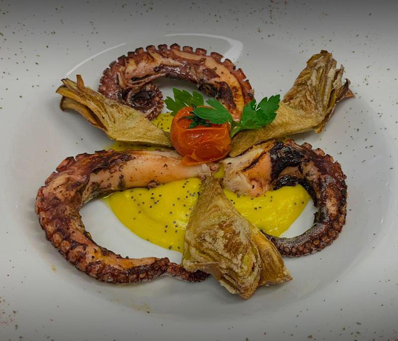 ristorante bagno florida beach viareggio in spiaggia pranzo cena a base di pesce polpo carciofi versilia
